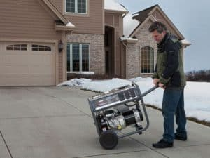 The Briggs & Stratton Storm Responder in use