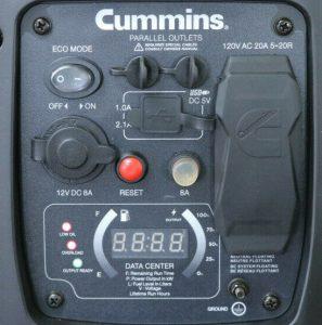 Panel of the Cummins Onan P2500i