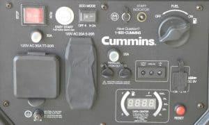 Panel of the Cummins Onan P4500i