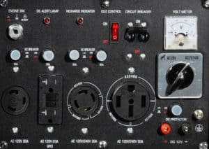Panel of the DuroMax XP10000E