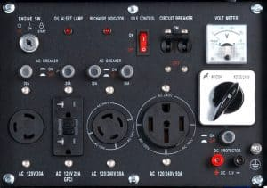 Panel of the DuroMax XP12000EH