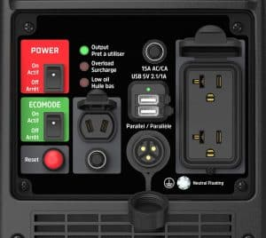 Panel of the Energizer eZV2200P