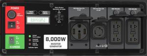 Panel of the Energizer eZV8000