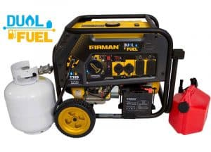 Picture of the Firman H05753 Dual Fuel Portable Generator