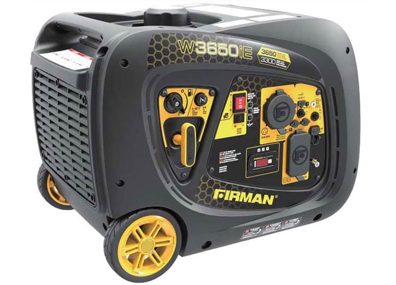 Firman W03382 Inverter 3650//3300W Electric Start Gasoline Powered Parallel Ready Portable Generator