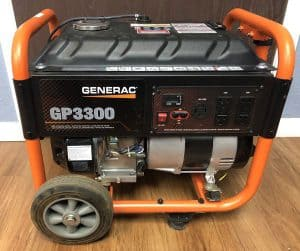 The Generac GP3300 in use