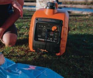 The Generac GP3300i in use
