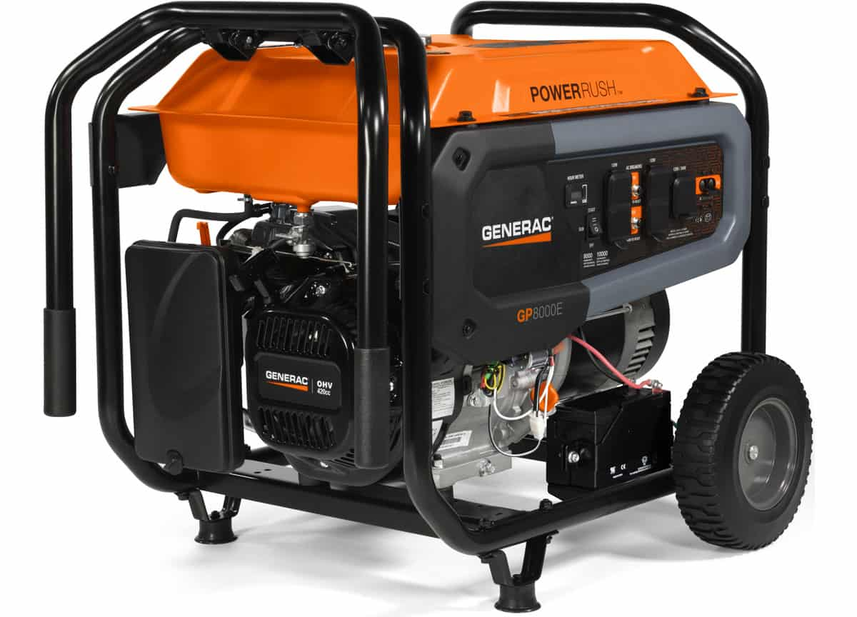 Generac 7686 Gp8000e 8000 10000w Portable Generator Spec Review Deals