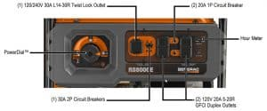 Panel of the Generac RS8000E