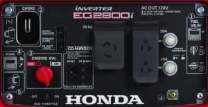 Panel of the Honda EG2800i