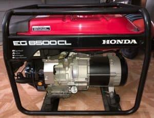 The Honda EG6500CL in use