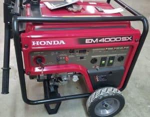 The Honda EM4000SX in use
