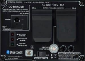 Panel of the Honda EU2200i Companion