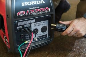 The Honda EU2200i Companion in use