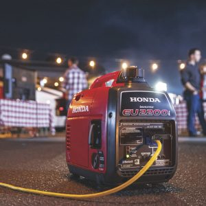 The Honda EU2200i in use