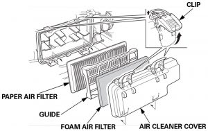 Honda generator air filter assembly