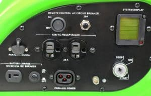 Panel of the Lifan ESI 2500iER-EFI