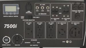 Panel of the Powerhorse 7500i