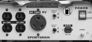 Panel of the Sportsman GEN4000-SS