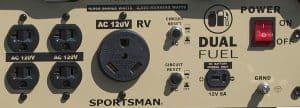Panel of the Sportsman GEN4000DF-SS