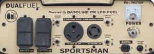 Panel of the Sportsman GEN7500DF-SS