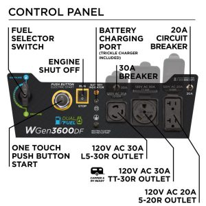 Panel of the Westinghouse WGen3600DF