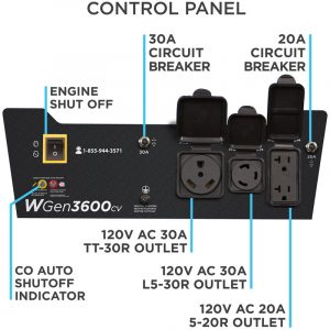 Panel of the Westinghouse WGen3600cv