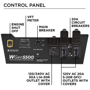 Panel of the Westinghouse WGen5500