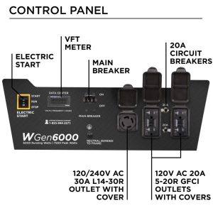 Panel of the Westinghouse WGen6000