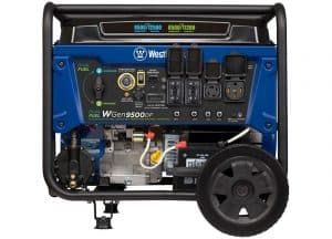 Picture of the Westinghouse WGen9500DF Dual Fuel Portable Generator