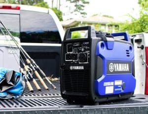 The Yamaha EF2200iS in use