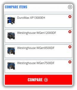 Generator Comparison Feature