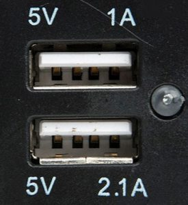 dual 5V USB ports