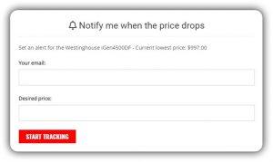 Generator Price Drop Email Alert