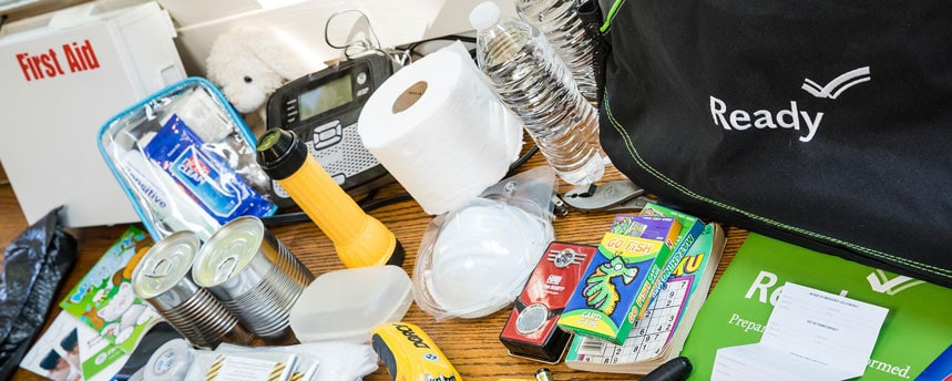 Picture of an emergency supply kit
