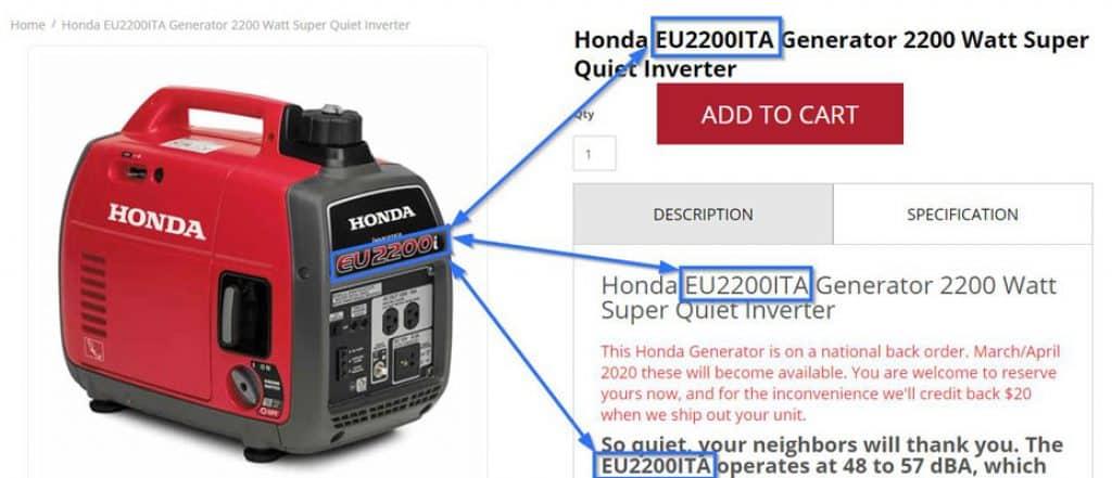 Honda EU2200i vs EU2200iTA