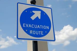 Picture of an evacuation route sign