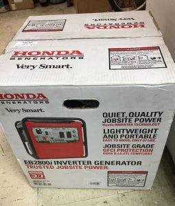 Picture of the Honda EB2800i in its box