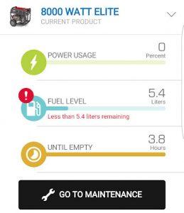 generator stats on infohub app