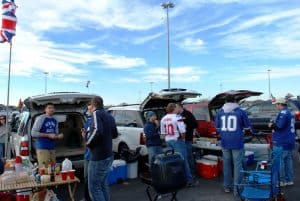 Tailgate party before a New York Giants game