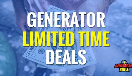 Portable Generator Limited Time Offers & Deals
