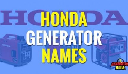The Secret Behind Honda Generator Part Numbering